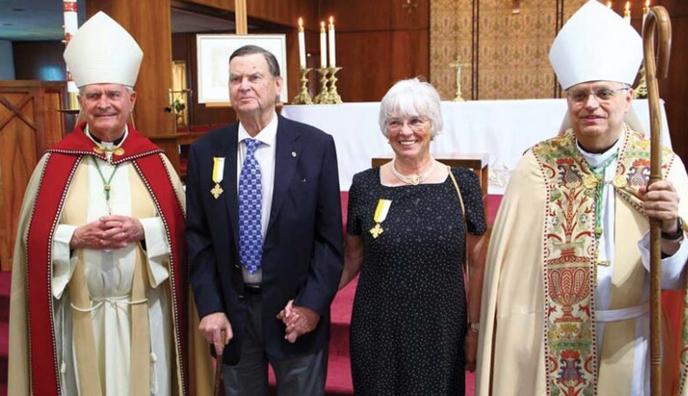 Alaska-Ed and Cathy Rasmuson-Papal Benemerenti Medal