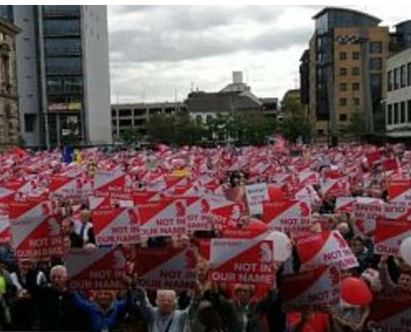 'Disgraceful injustice': Thousands protest law to force abortion on N Ireland