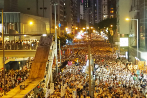 Catholic leaders join massive Hong Kong protest