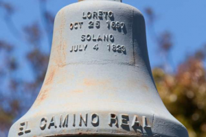 Historic mission bell removed from California college