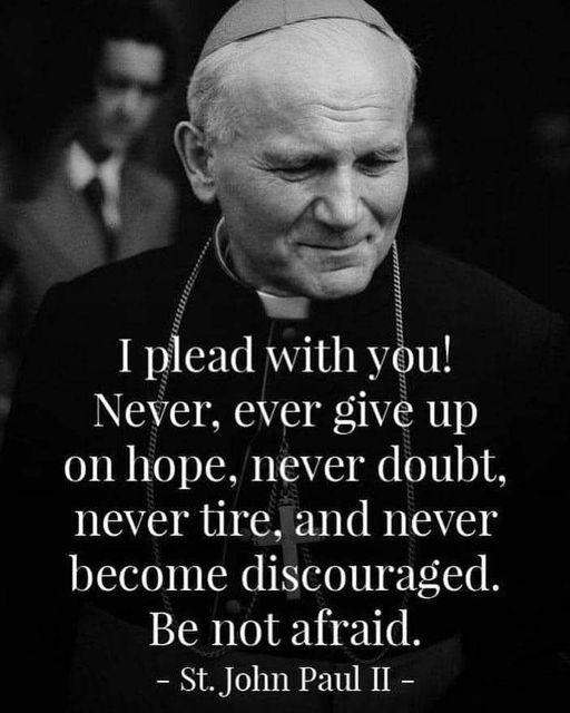 Saint Pope John Paul II Quote on hope-Catholic Business Journal