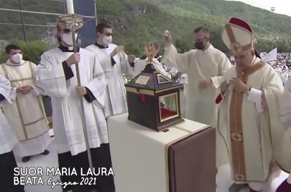 relics of Sr Maria Laura Mainetti